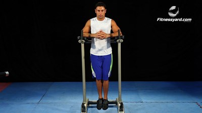 Vertical Leg-Hip Raise - Parallel Bars