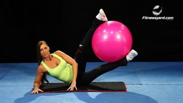 Stability Ball Side Leg Raises