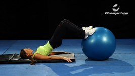 Stability Ball Hip Raises