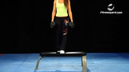 Dumbbells Bench Step Ups