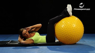 Twist Crunches – Legs on Stability Ball
