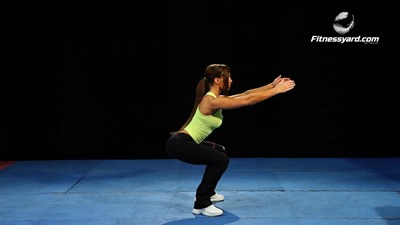 Bodyweight Squats with Raising Arms