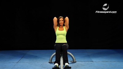 Seated Triceps Extension - Weight Plate
