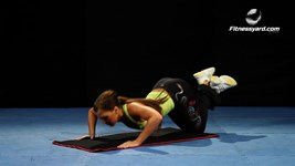 Dive-Bomber Knees push up
