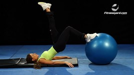 Stability Ball with Single Leg Hip Raise